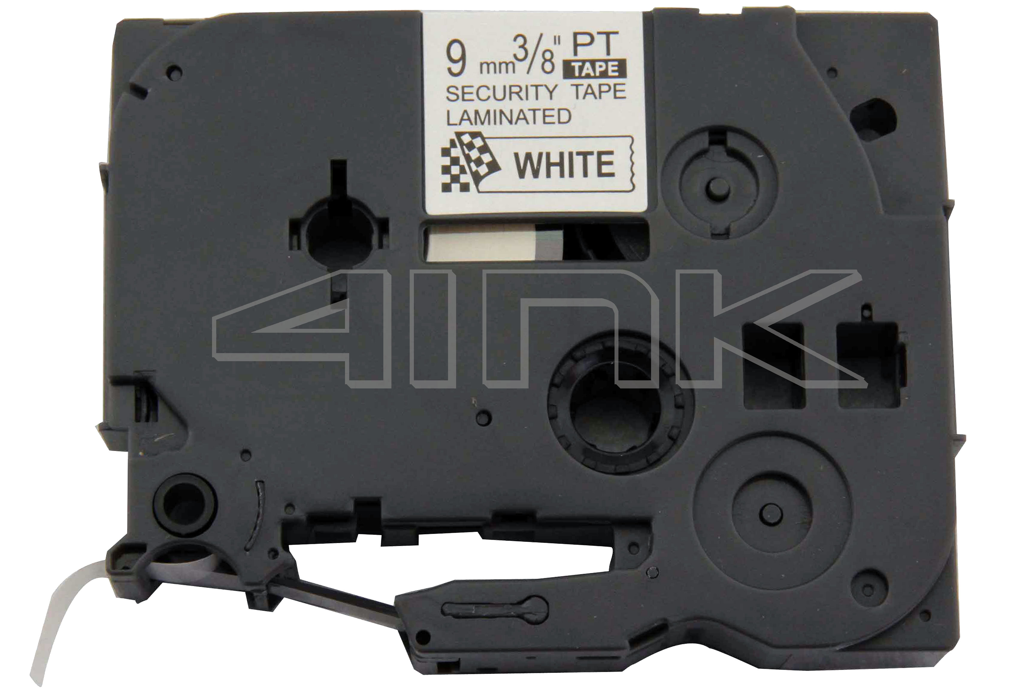 Compatible For Brother P-Touch 9mm x 8m white on black Laminated Tze Label tape