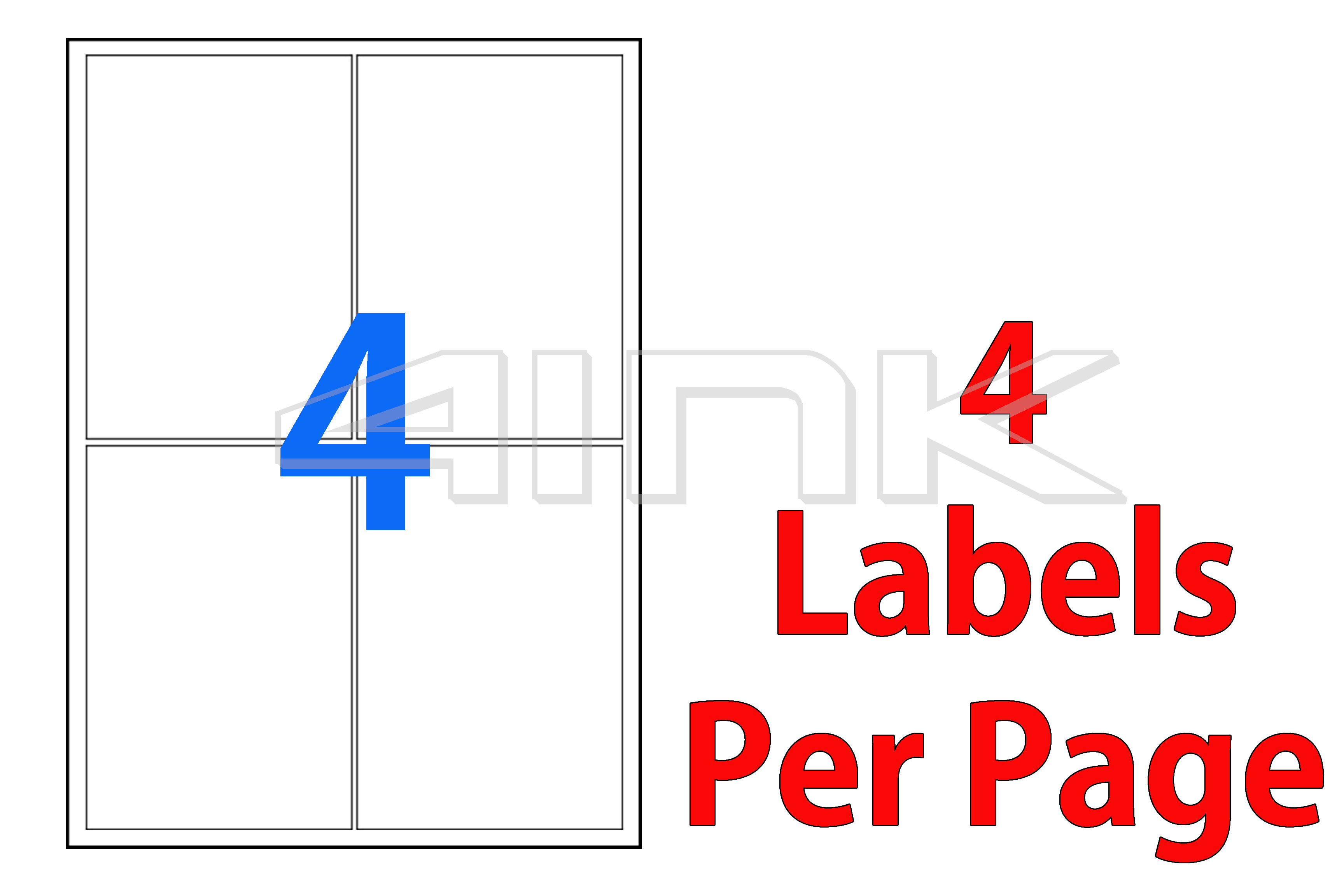 shipping labels 4 per page