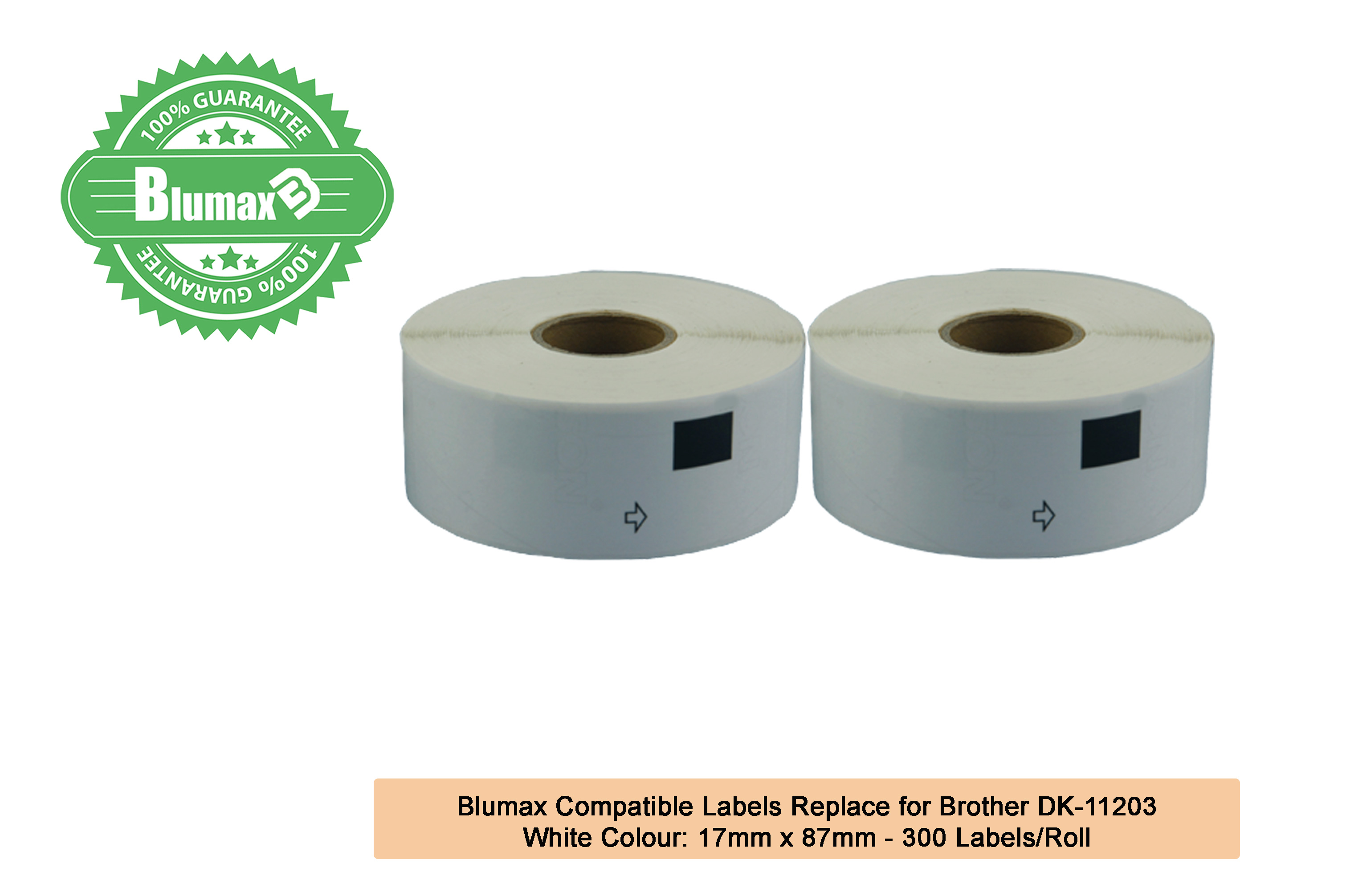 2x Compatible DK-11203 Refill white Label – 17 mm x 87mm,300 Labels/roll
